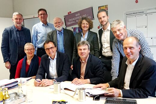 2019-05-07_WürzburgAG-Aufsichtsrat, Claus Schreiner, Barbara Sponholz, Klaus Walther, Matthias Faller, Rainer Thome, Klaus neeb, Anja Simon, Christian Hofmann, Gunther Schunk, Robert Grebner.
