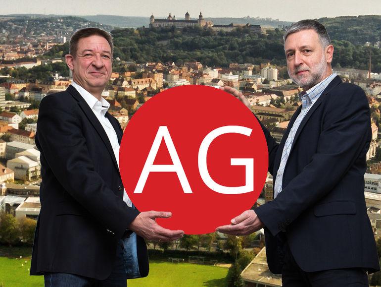 Der Vorstand der Würzburg AG: Klaus Walther (links) und Claus Schreiner (rechts).