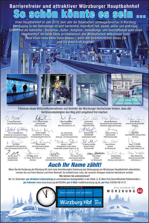 Anzeigenkampagne: So könnte der Würzburger Hauptbahnhof aussehen